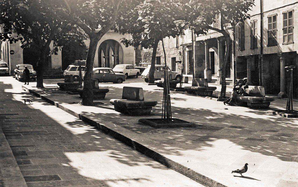 foto historia vista antigua de la plaza de la verdura