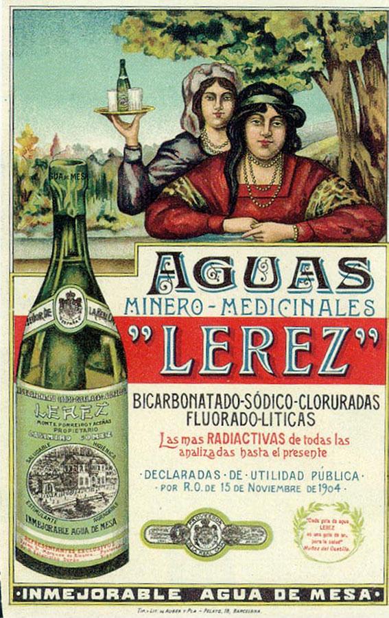 "A) Cartel publicitario das augas mineromedicinais ""Lérez"", 1909. Fondo fotográfico AMPo. FF-P146"