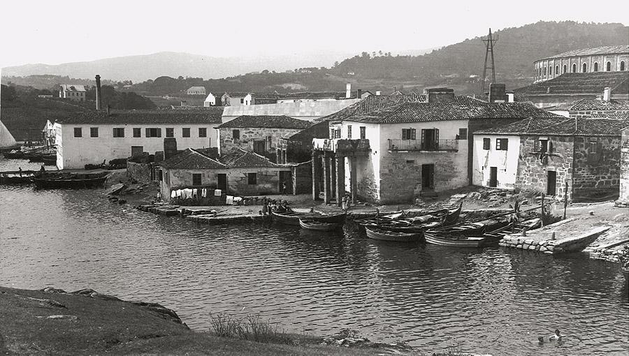 Vista da Ribeira dos Peiraos, ca. 1914-1915