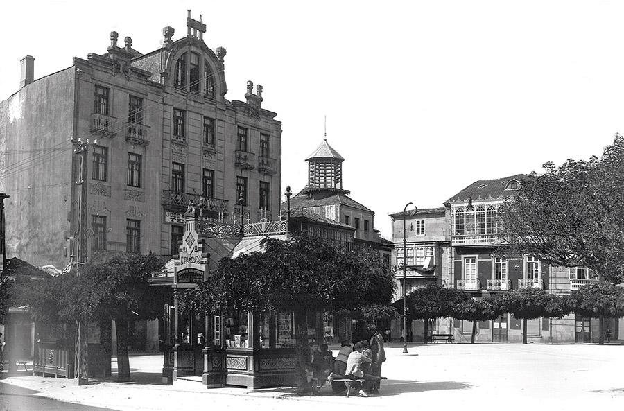 A Praza da Ferrería. Aprox. 1920