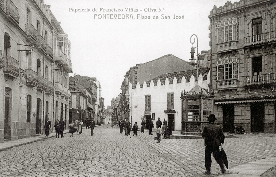 A) Postal da praza de San Xosé, 1912
