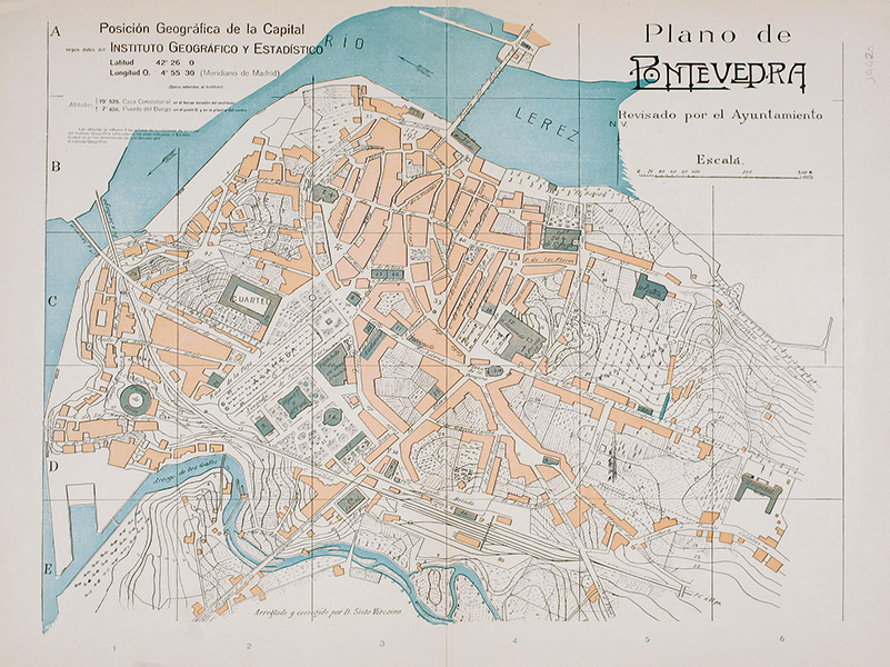 Plano Pontevedra, 1932