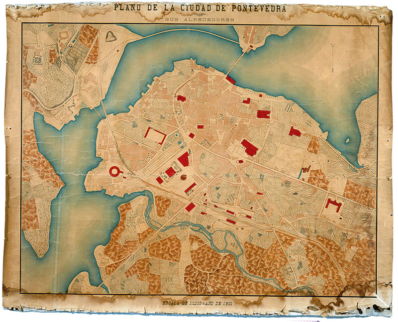 Plano de Pontevedra, 1901