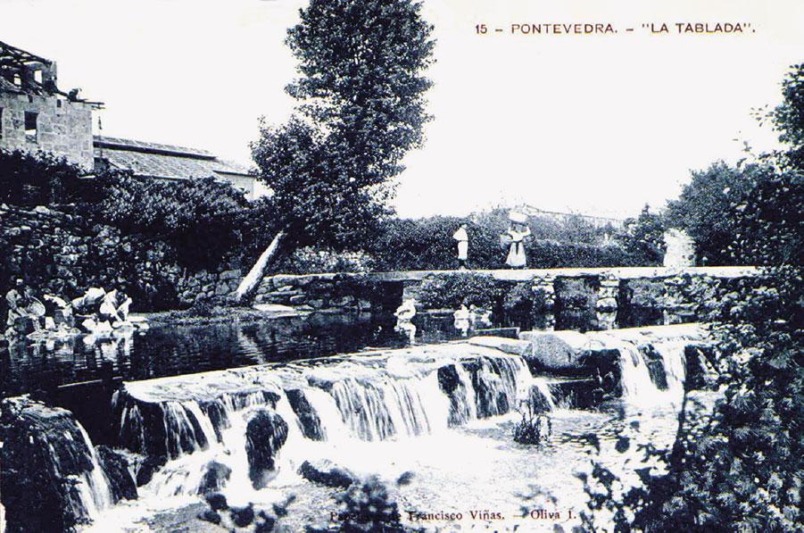 Postal da ponte da Tablada, ca. 1907-1908