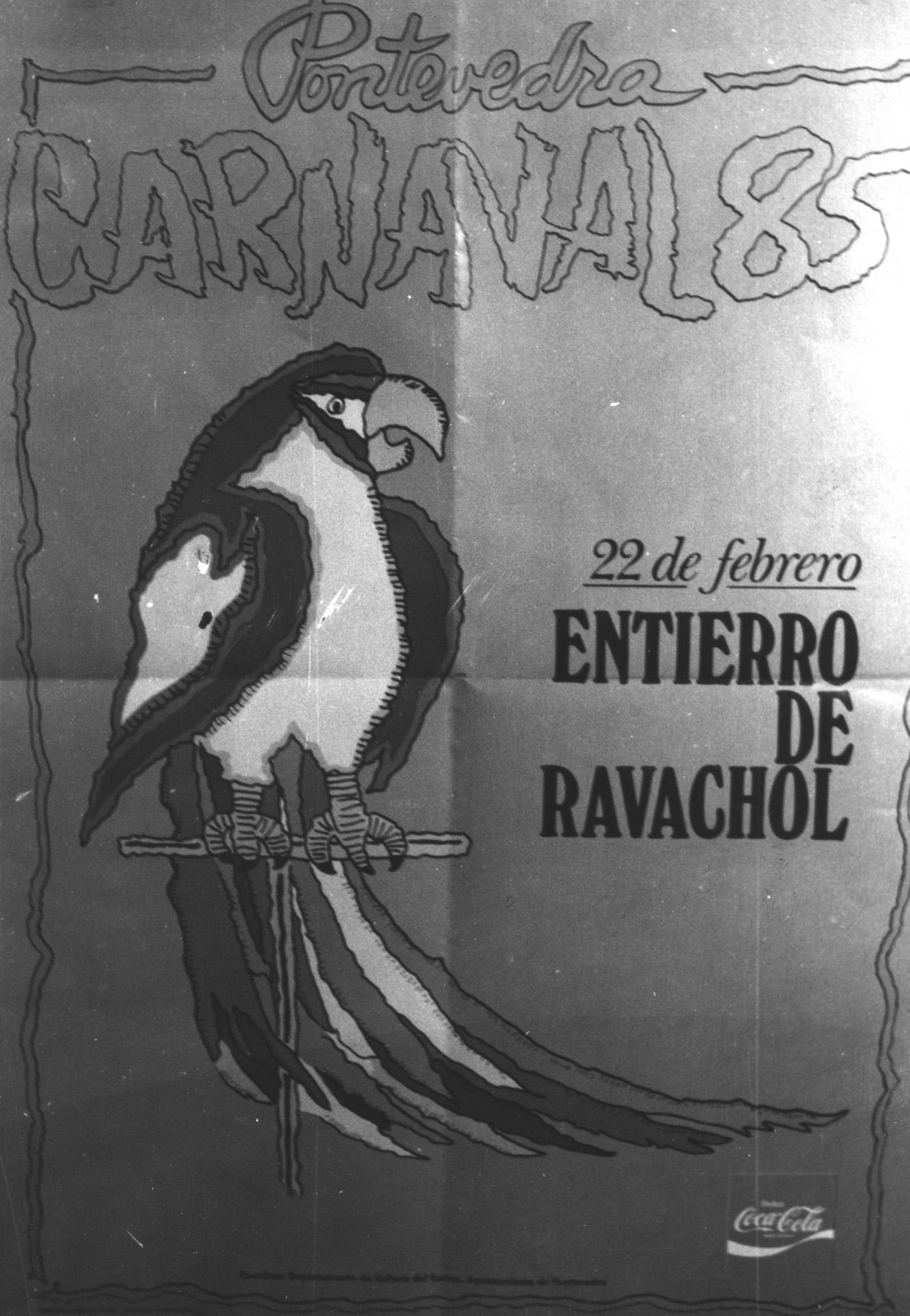 01.- CARTEL RAVACHOL, 1985. DIARIO DE PONTEVEDRA, RAFA VÁZQUEZ