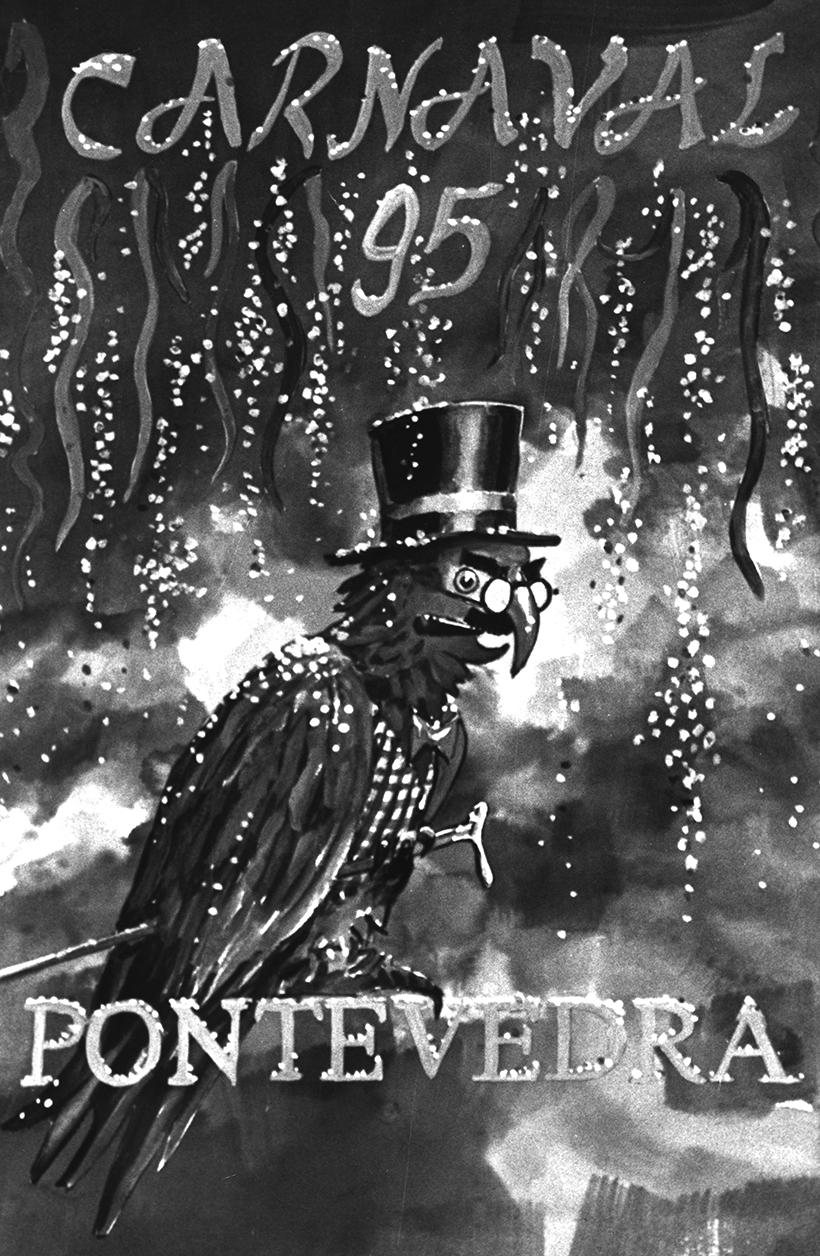 12. CARTEL ENTROIDO 1995. DIARIO DE PONTEVEDRA. MIGUEL VIDAL
