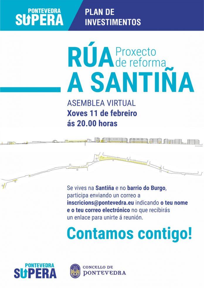 Cartel convocatoria asamblea rúa A Santiña