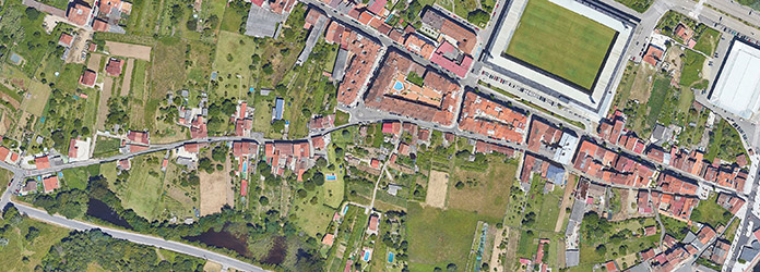 Imaxe aérea Rúa A Santiña