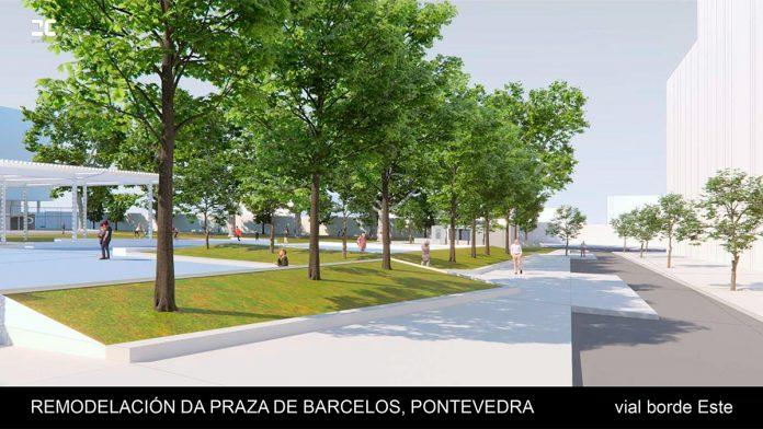 Vial borde Este Remodelacion da Praza de Barcelos
