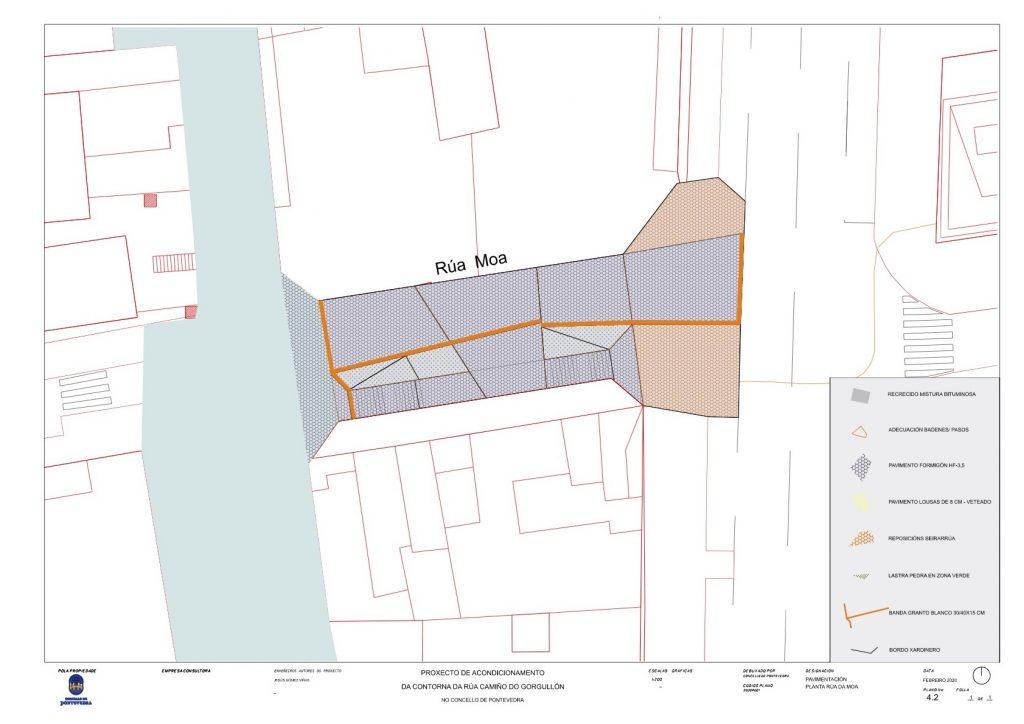 Plano reforma rua da Moa