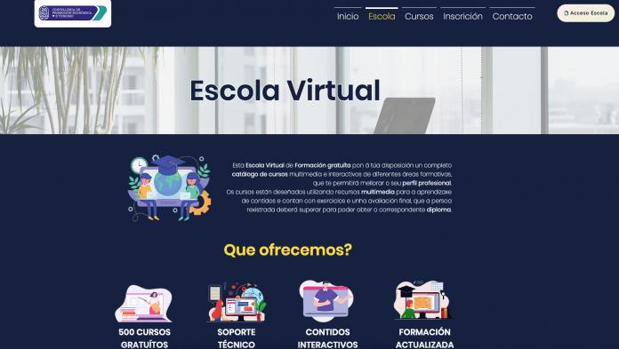 Páxina principal Escola Virtual Concellería de Promoción Económica