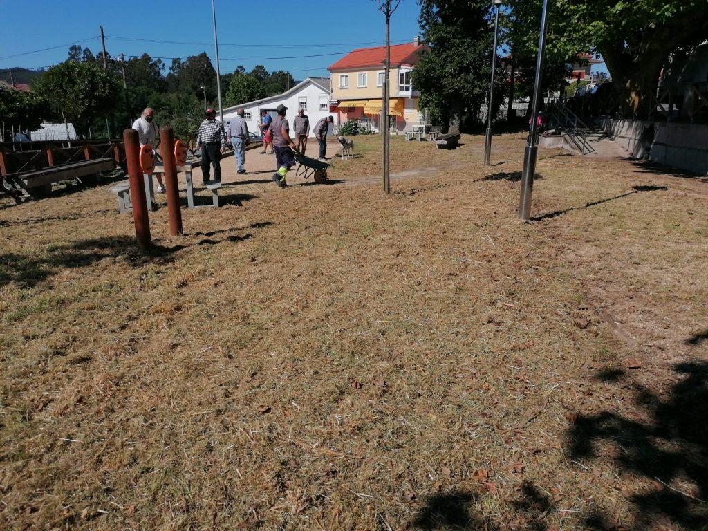 Limpeza parque petanca Os Areais 3
