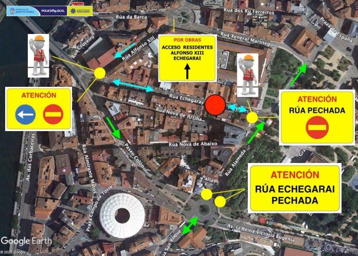 Corte rua Echegaray