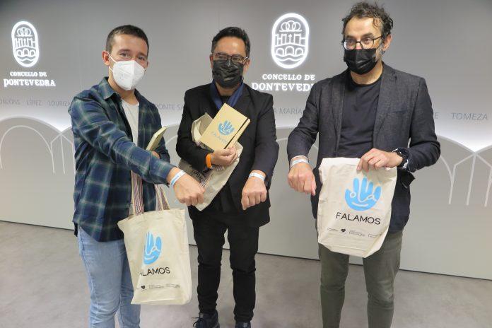 Alberto Oubiña, Jorge Campos e Fernando Ramallo, presentan Falamos.